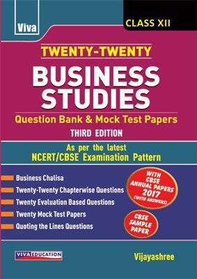 Twenty-Twenty Business Studies - Class - XII - 3/e