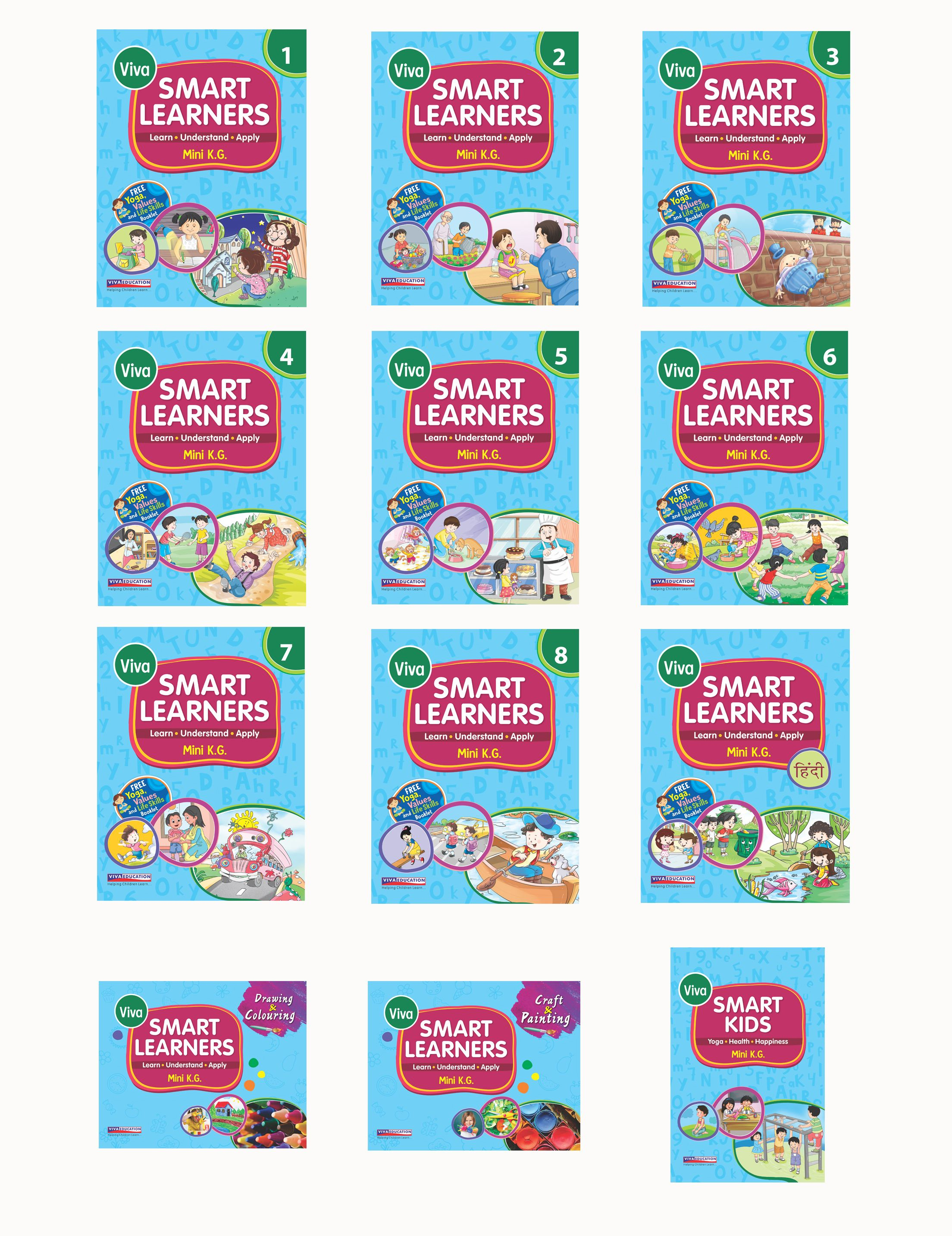 Smart Learners: Mini KG Set of 12 Books