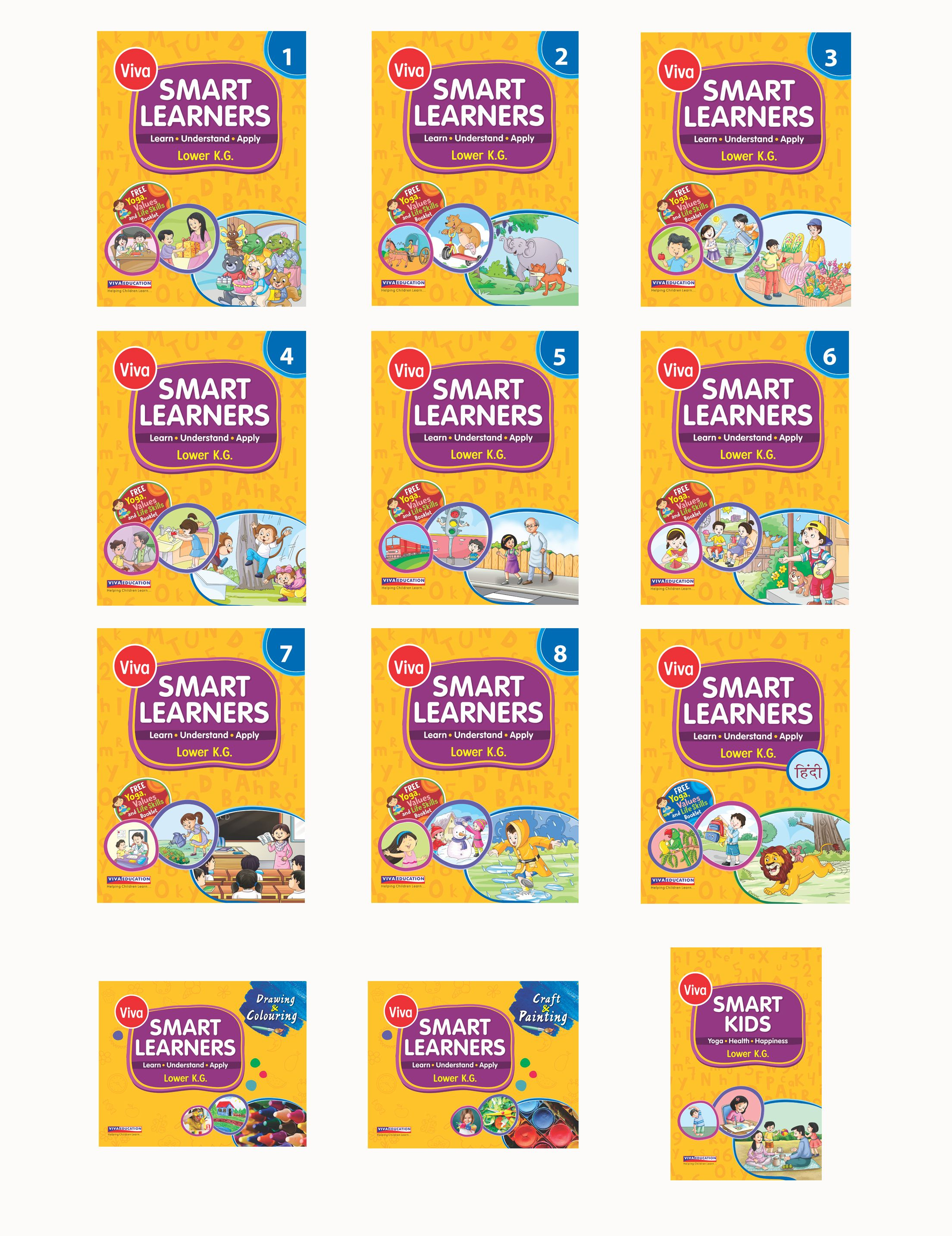 Smart Learners: Lower KG Set Of 12 Books