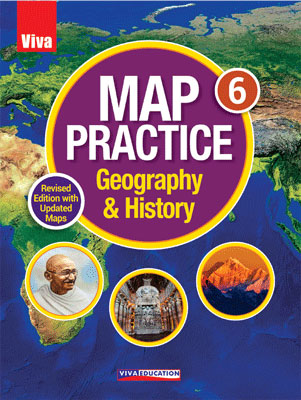 Map Practice Class 6, Revised Edition