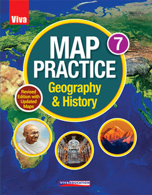 Map Practice Class 7, Revised Edition