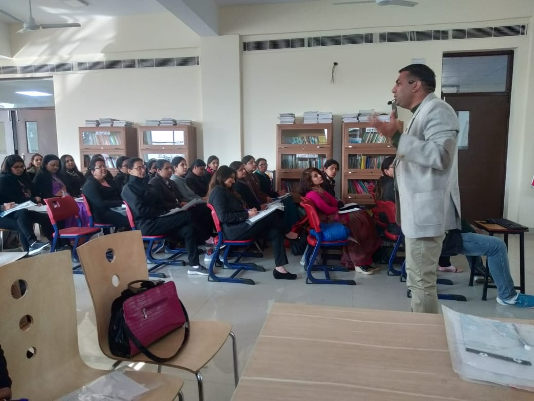 WORKSHOP ON TRAITS OF ROLE MODEL TEACHING AT EMERALD GROUP OF SCHOOL, FARIDABAD. 70 TEACHERS PARTICIPATED IN THE WORKSHOP, CONDUCTED BY DR. J.P. DALA.