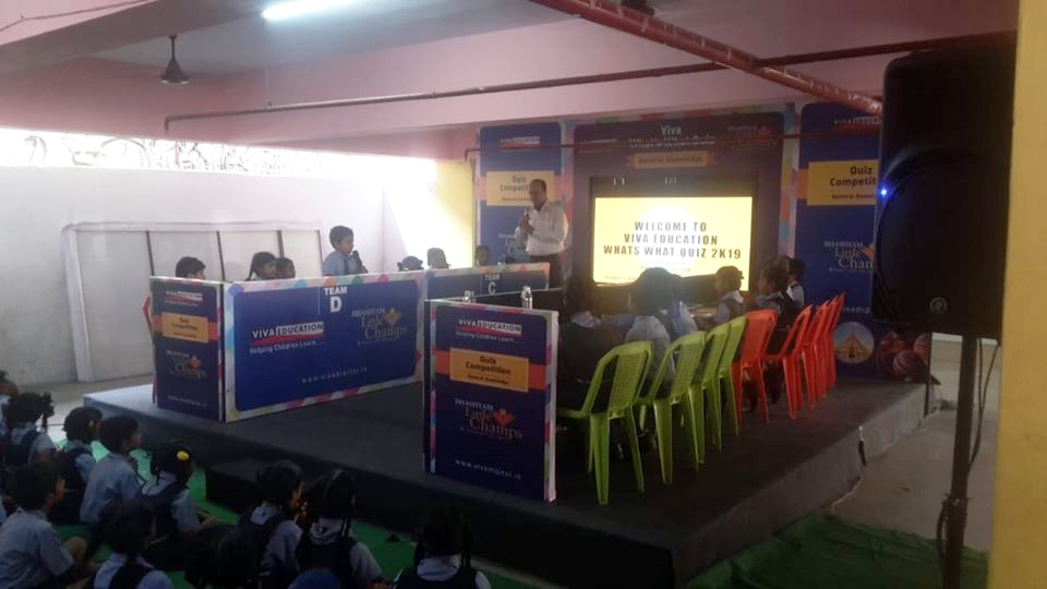 WHAT'S WHAT GK QUIZ AT BHASHYAM LITTLE CHAMPS IN KAKINADA, RAJAHMUNDRY AND TANUKU, ANDHRA PRADESH. A SUCCESSFUL EVENT CONDUCTED BY QUIZ MASTER MR. AMIR MEHBOOB.