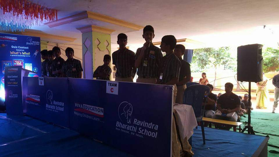 WHATS WHAT QUIZ CONTEST IN RAVINDRA BHARTHI SCHOOL, VISHAKAPATNAM. CHIEF GUEST: COMMISSIONER OF POLICE AND QUIZ MASTER: MR. MEHBOOB
