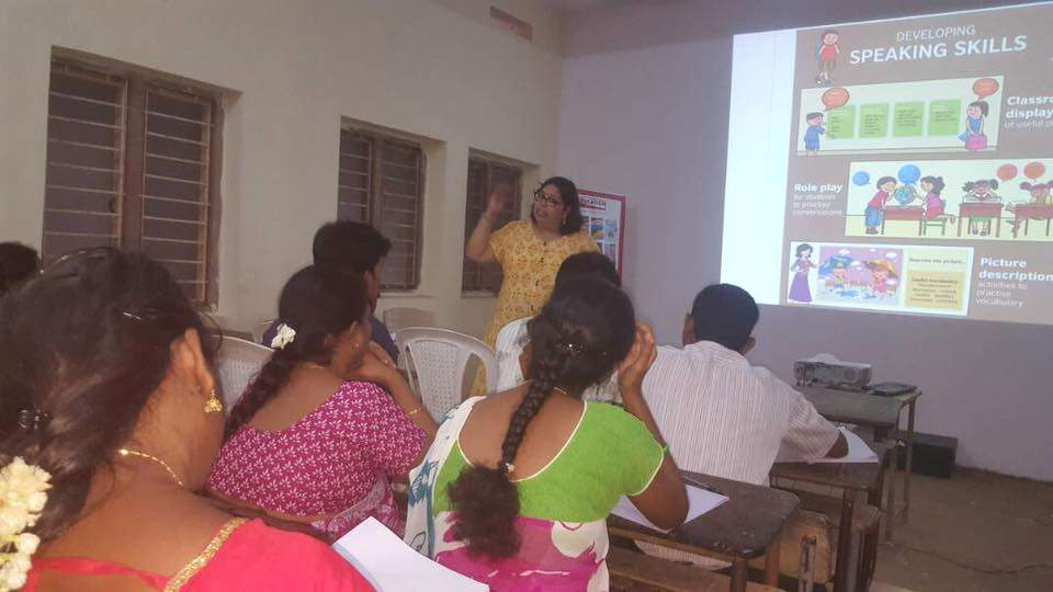 WORKSHOP ON ENGLISH LANGUAGE TEACHING BASED ON VIVA REAL ENGLISH SERIES AT RAJAHMUNDRY CONDUCTED BY MS. RAJASHREE IMANDI