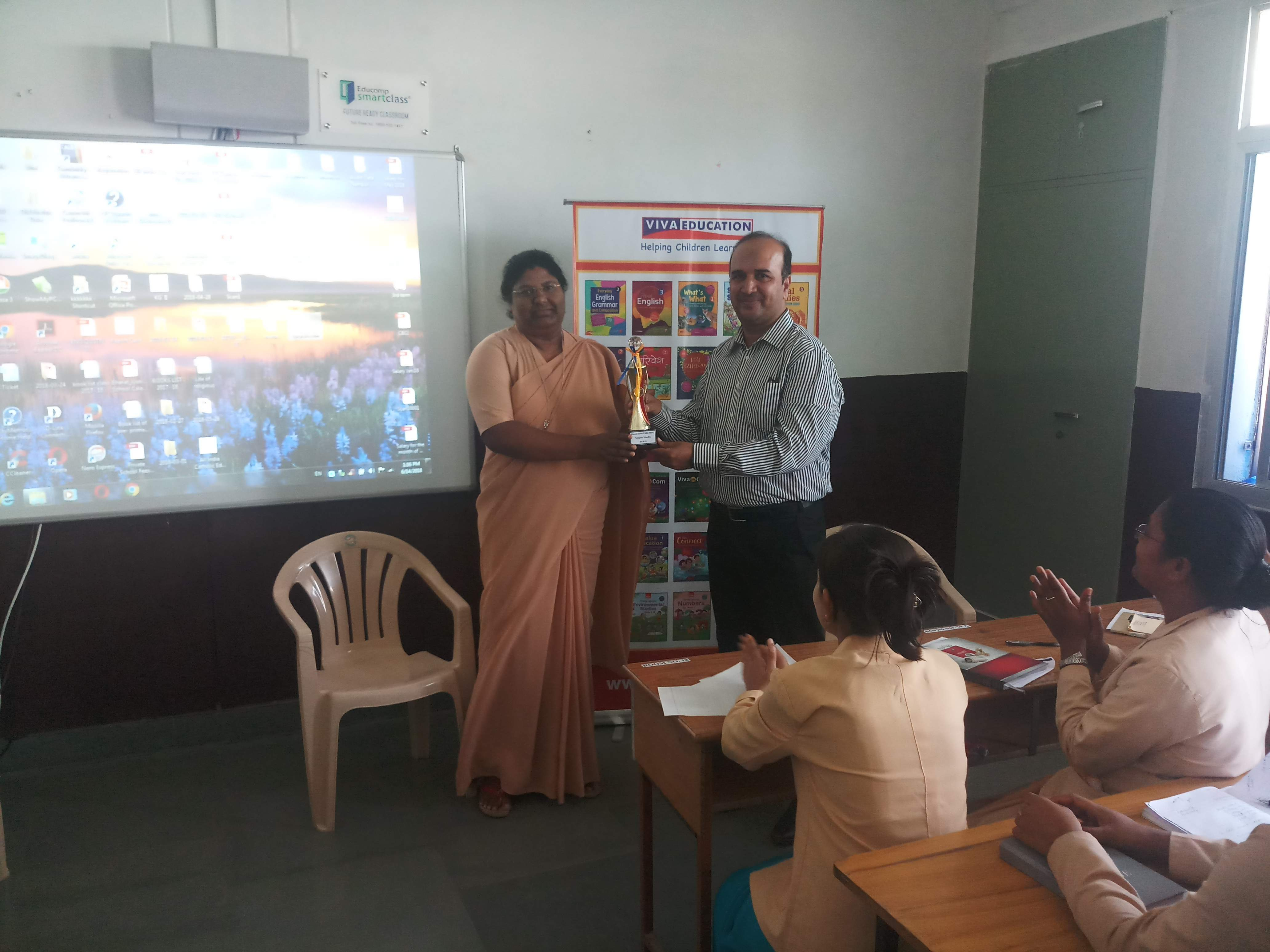 WORKSHOP ON CLASSROOM MANAGEMENT AND MODERN TRENDS IN EDUCATION IN BHARAT JYOTI SCHOOL, NAINPUR (MP).