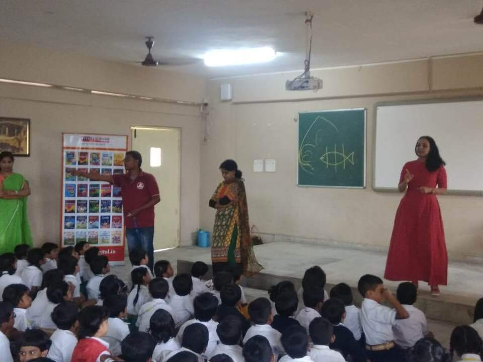 VIVA EDUCATION ORGANISED A SESSION ON STORYTELLING FOR GRADE 1 STUDENTS. THE SESSION WAS CONDUCTED BY MS HINA ALAM.