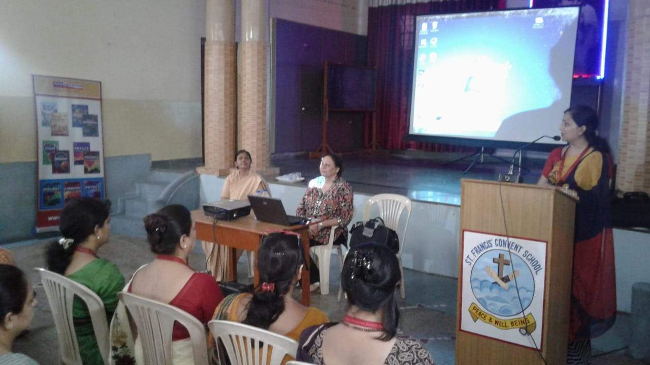 WORKSHOP HELD BY VIVA EDUCATION ON VALUES AND LIFE SKILLS AT ST.FRANCIS SCHOOL, AGRA CONDUCTED BY MRS. NEERA KOHLI
