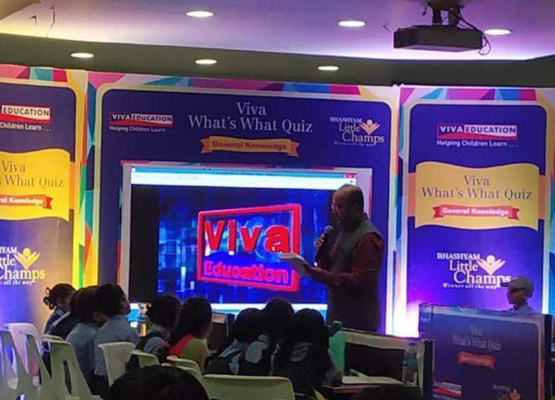 YET ANOTHER VIVA WHATS WHAT QUIZ ORGANISED BY VIVA EDUCATION IN HYDERABAD. QUIZZING BY QUIZ MASTER MR. AMIR MEHBOOB.